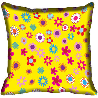 meSleep Floral Digital Printed Cushion Cover 18x18