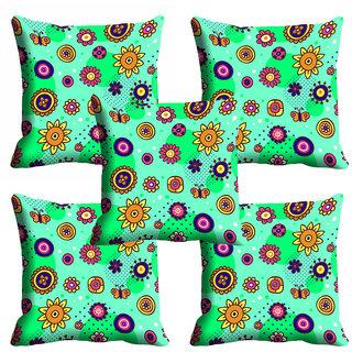 meSleep Green Ethnic Cushion Cover (20x20)