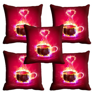 meSleep Red Heart Cushion Cover (20x20)