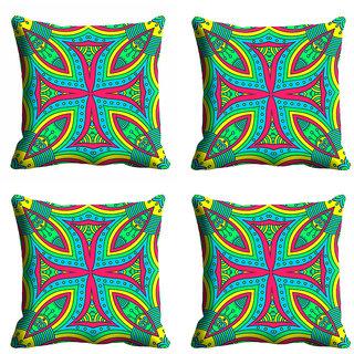 meSleep 3D Multi Color Cushion Cover (12x12)