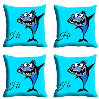 meSleep 3D Hi Blue Cushion Cover (12x12)