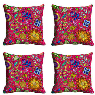 meSleep Multi Color Nature Cushion Cover (20x20)