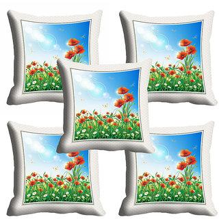 meSleep 3D Floral Cushion Cover (20x20)