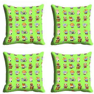 meSleep 3D Green Cartoon Cushion Cover (12x12)