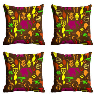 meSleep Multi Color Ethnic Cushion Cover (20x20)