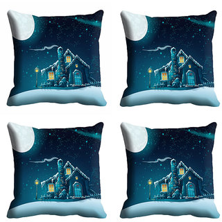 meSleep 3D Moon Light Cushion Cover (20x20)