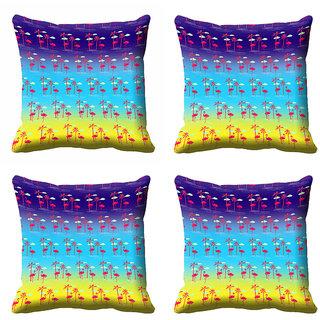 meSleep Abstract Multi Colour Cushion Cover (20x20)