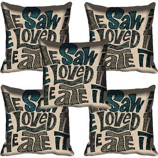 meSleep Quotes Digitally Printed Cushion Cover (18x18)