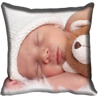 meSleep Kid Face Digitally Printed Cushion Cover (18x18)