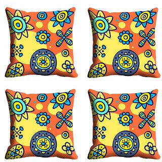 meSleep Multi Floral Cushion Cover (12x12)