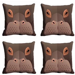 meSleep 3D Monkey Face Cushion Cover (20x20)