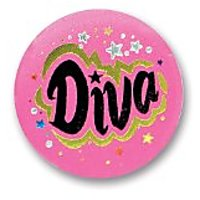 "Diva Satin Button 2"" Party Accessory"