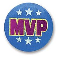 "Mvp Satin Button 2"" Party Accessory"