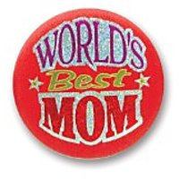 "WorldS Best Mom Satin Button 2"" Party Accessory"
