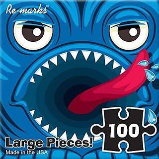 Blue Monster 100 Piece Re-marks Puzzle Monster Series