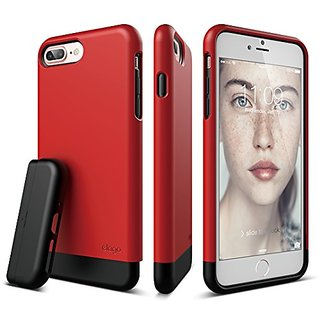 iPhone 7 Plus Case, elago [Glide][Red / Black] - [Multi-Option Case][Military Drop Test Certified][Sophisticated Shock A
