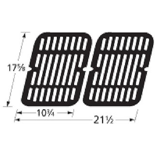 Music City Metals 59202 Stamped Porcelain Steel Cooking Grid Replacement for Gas Grill Model Brinkmann 810-9200-0, Set o
