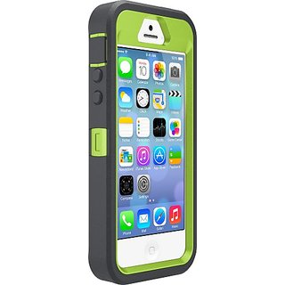 OtterBox DEFENDER SERIES Case for iPhone 5/5s/SE - Retail Packaging - KEY LIME (GLOW GREEN/SLATE GREY)