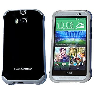 HTC One M8 Case, Black Rhino Dual Layer Protective Case (Polycarbonate + TPU) for the All New HTC One / HTC One M8 / HTC