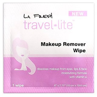 La Fresh Makeup Remover Cleansing Travel Wipes-Natural, Biodegradable, Waterproof, Facial Towelettes With Vitamin E-Indi
