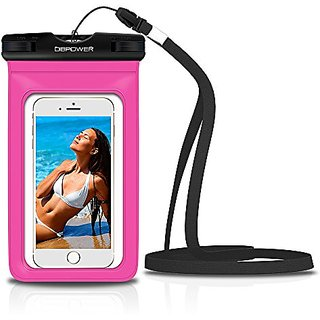 DBPOWER Universal Waterproof Phone Case Dry Bag for iPhone 4/5/6/6s/6plus/6splus, Samsung Galaxy s3/s4/s5/s6 etc. Waterp
