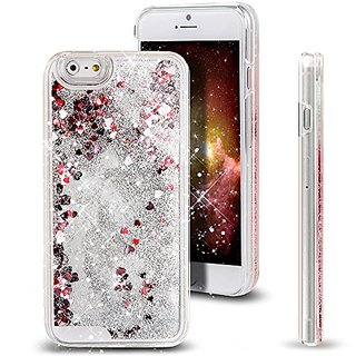 For iPhone 6S/6,iPhone 6S Case,iPhone 6S/6 Liquid Case,ikasus Creative Design Flowing Liquid Floating Luxury Bling Glitt