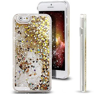 iPhone 6S Plus Case,iPhone 6 Plus Case,ikasus Creative Design Flowing Liquid Floating Luxury Bling Glitter Sparkle Heart