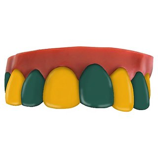 Team Teeth Gold and Green