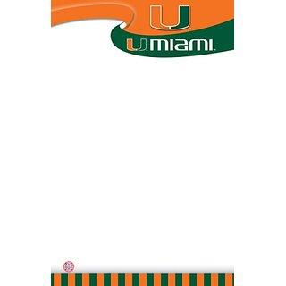 Turner Clc Miami Hurricanes Notepads - 5 X 8 Inches - 2 Packs