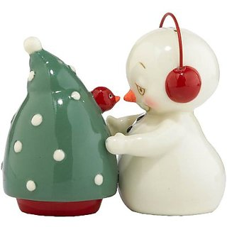 Department 56 Snowpinions Surprise in a Tree Salt and Pepper, 3.15-Inch