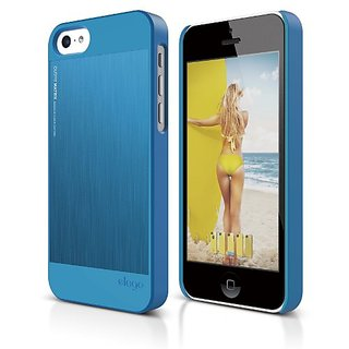 elago S5C Outfit Morph MX Aluminum and Polycarbonate Dual Case for the iPhone 5C - eco friendly Retail Packaging (Blue /