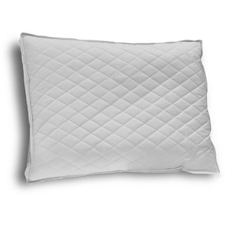 Down Etc Diamond Support Duck Down Queen Feather Pillow, White