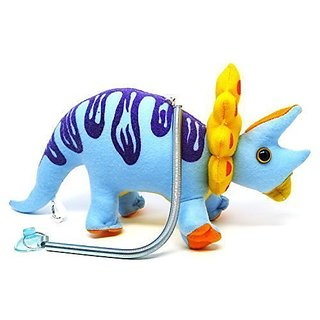 Funny Triceratops Dinosaur Three - Horn Bouncing Up n Down Hanging Plush Doll Toy