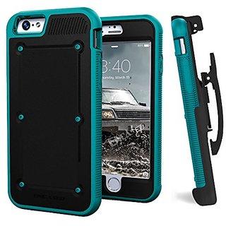 iPhone 6S (2015 Release) BallisticSHIELD Armor Slim Case & Belt Clip (Quick-release holster design) [Encased Lifetime Gu