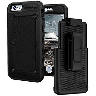 iPhone 6S (2015 Release) BallisticSHIELD Armor Slim Case & Belt Clip - Black (Quick-release holster design) [Encased Lif