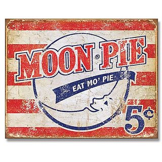 Moon Pie - Eat Mo Pie Tin Sign 16 x 13in