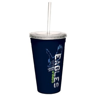 Tree-Free Greetings cc34238 Eagles Wings: Isaiah 40:31 Artful Traveler Double-Walled Cool Cup with Reusable Straw, 16-Ou