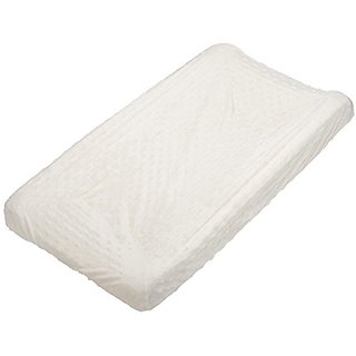 Rumble Tuff Minky Dot Changing Pad Cover, Ecru,Compact