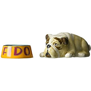 Westland Giftware Fido and Pet Bowl Salt and Pepper Shakers