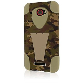 HTC Droid DNA Case, MPERO IMPACT X Series Dual Layered Tough Durable Shock Absorbing Silicone Polycarbonate Hybrid Kicks