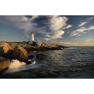 Wallmonkeys Surf Pounds the Shore near Peggys Point Lighthouse. - 42