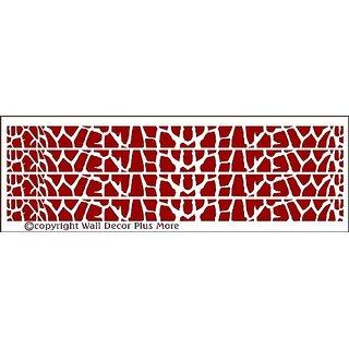 Wall Decor Plus More WDPM2409 Giraffe Print Stripe Wall Vinyl Sticker Sticker, 36-Inch W x 2.5-Inch H, Red