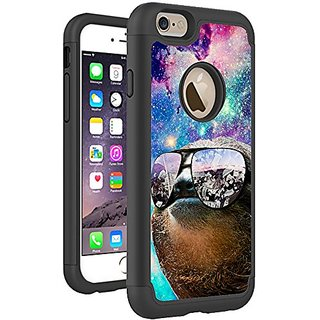 iPhone 6S 6 Case Cover By HybCase Featuring Thug Life Sloth Hipster In Galaxy Space Fun iPhone 6S Cases For Girls Teens