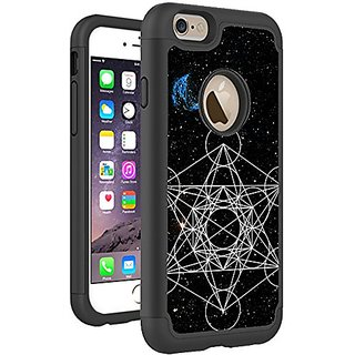 iPhone 6S 6 Case Cover By HybCase Featuring Sacred Geometry Metotrons Cube Constellation Fun iPhone 6S Cases For Girls T