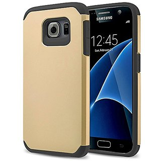 S7 case, Galaxy S7 Case, kaesar [Slim Fit] [Shock Absorption] 2-Piece Hybrid Dual Layer Shockproof Hard Cover Silicone S