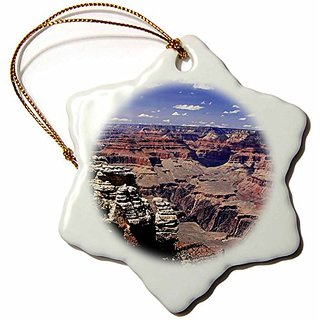 Sandy Mertens Grand Canyon Part 2 Snowflake Porcelain Ornament, 3-Inch