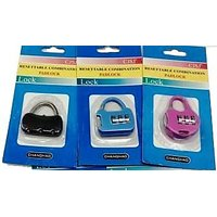 Buy 1 Get 1 Free Resettable Combination Pad Lock For Bags, Luggage, Zippers