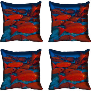 meSleep Fish Digitally Printed Cushion Cover (20x20)