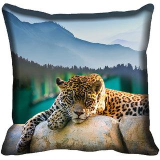 meSleep Tiger Digital Printed Cushion Cover 18x18