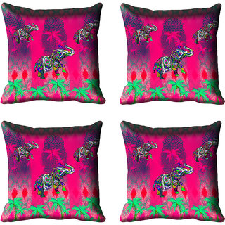 meSleep Elephant Digital Printed Cushion Cover 20x20